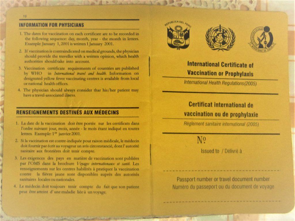 ペルー、予防接種