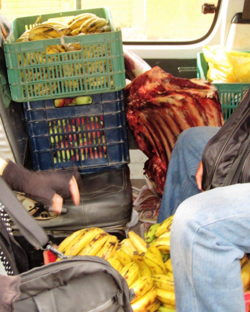 ペルー、乗り物、コンビ、肉