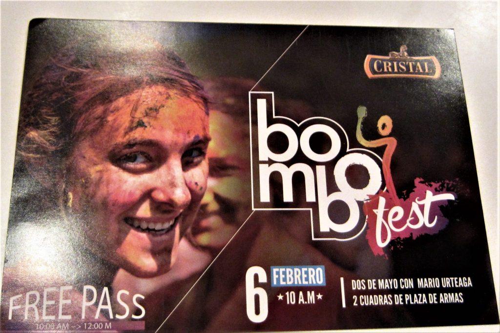 ペルー、カハマルカ、2月、水かけ祭り、インクかけ祭り、カルナバル、気をつけて!