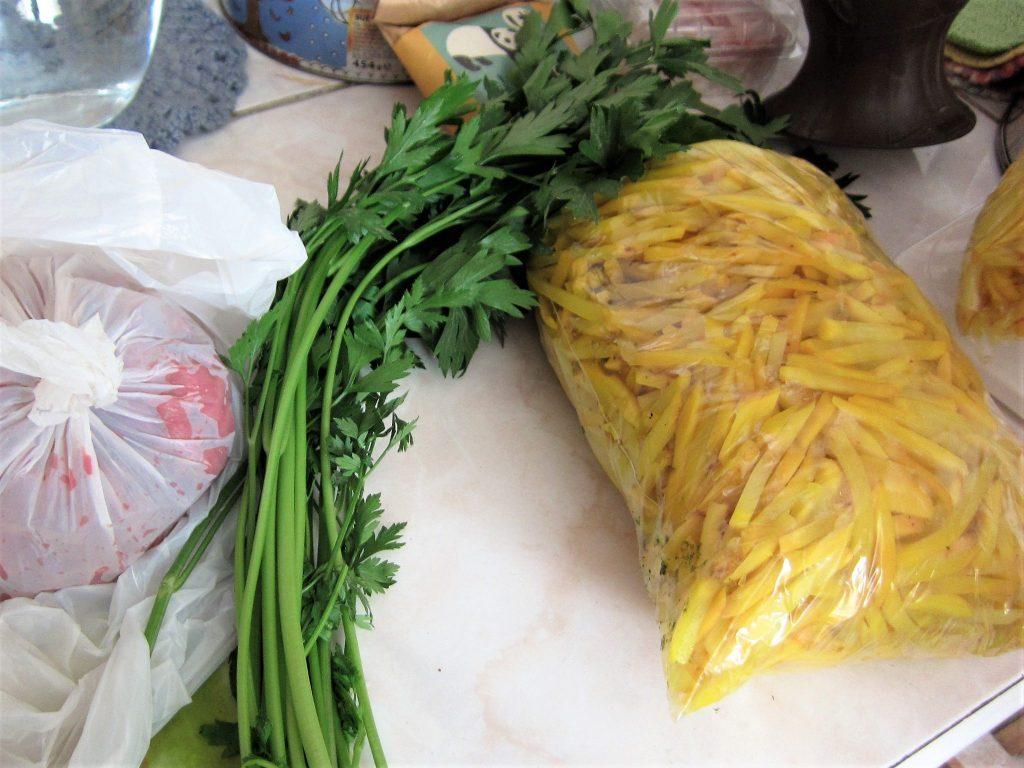 ペルー、オユコolluco、レシピ、料理