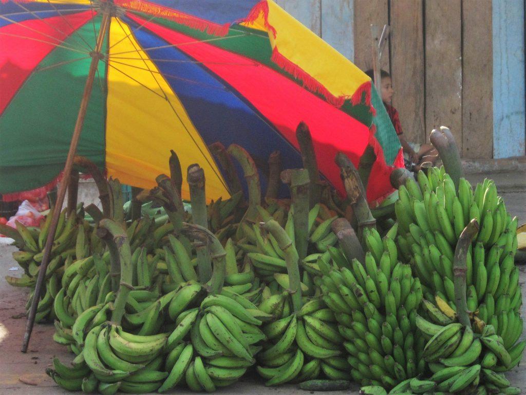 ペルー、料理、おいしい、ジャングル、タカチョ、バナナ