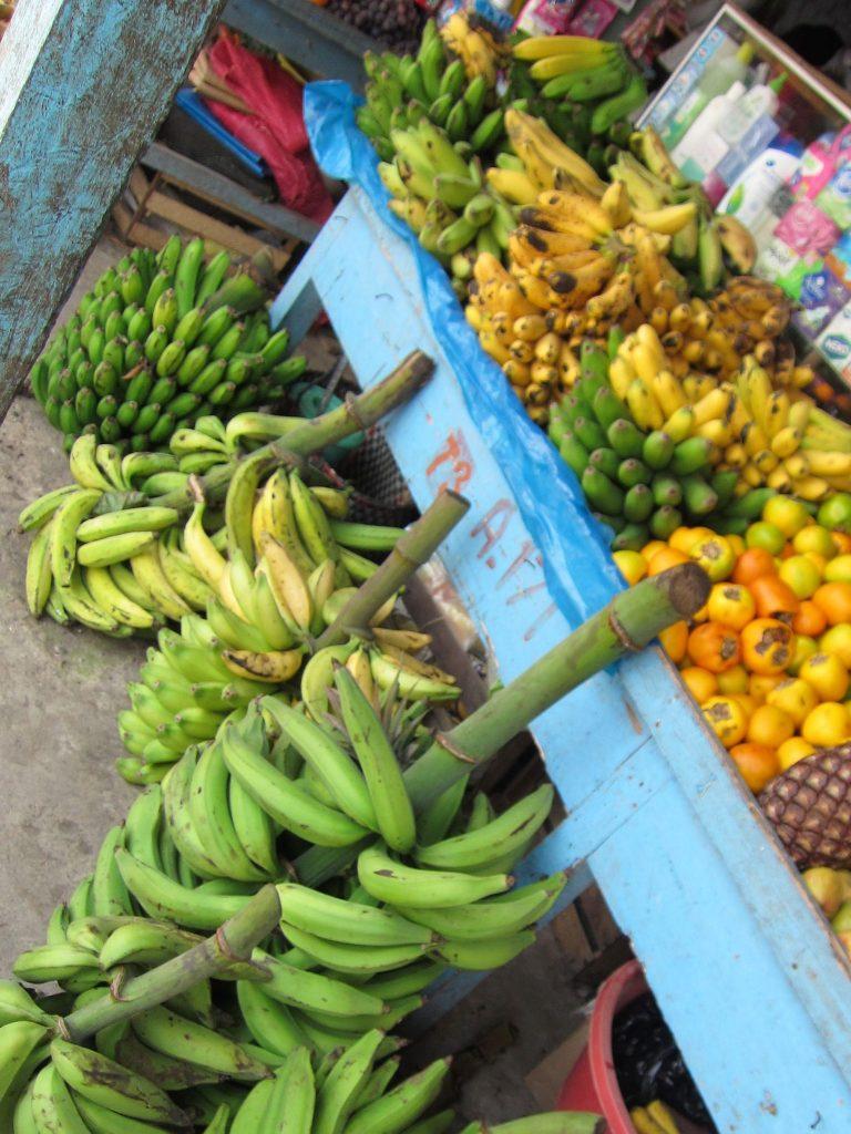 南米、ペルー、バナナ、洗濯