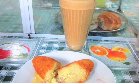 おいしい、ペルー、料理、朝食、トルヒージョ