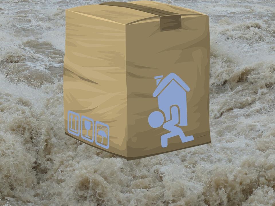 ペルー、郵送、大雨