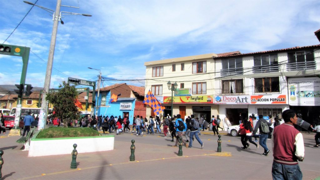 ペルー、クスコ、暴動