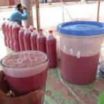 ペルー・クスコの伝統的な飲み物チチャ・フルティヤーダ Chicha frutillada