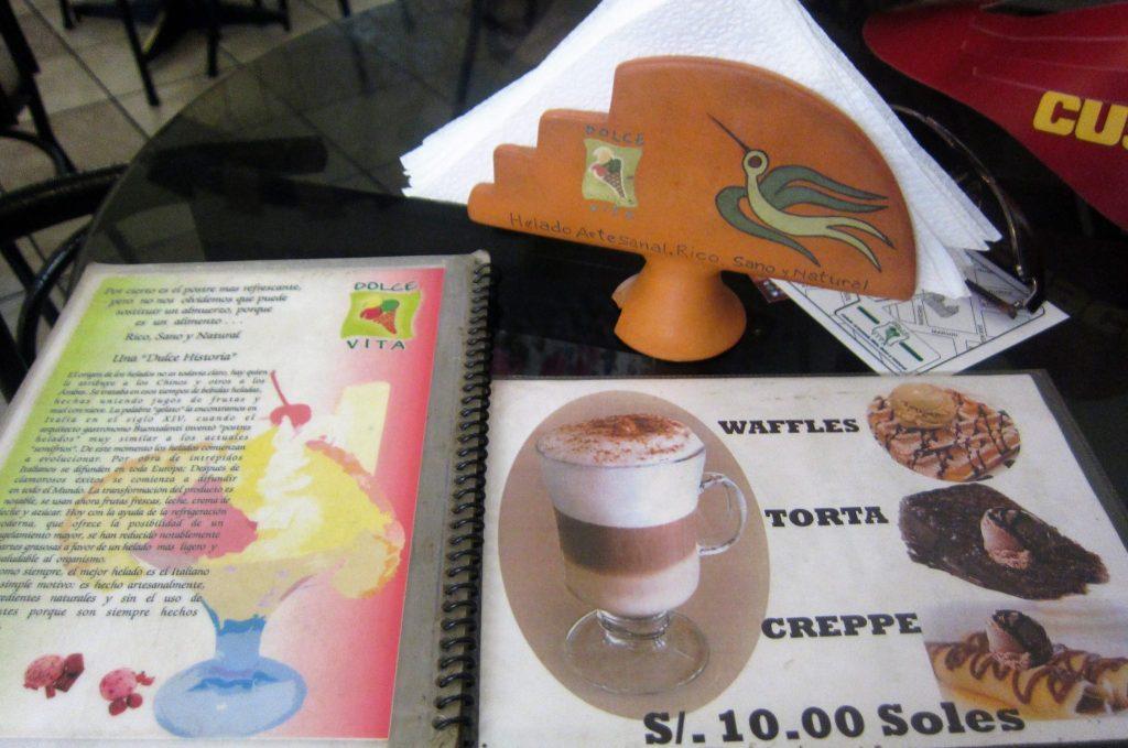 ペルー、クスコ、おいしい、アイスクリーム