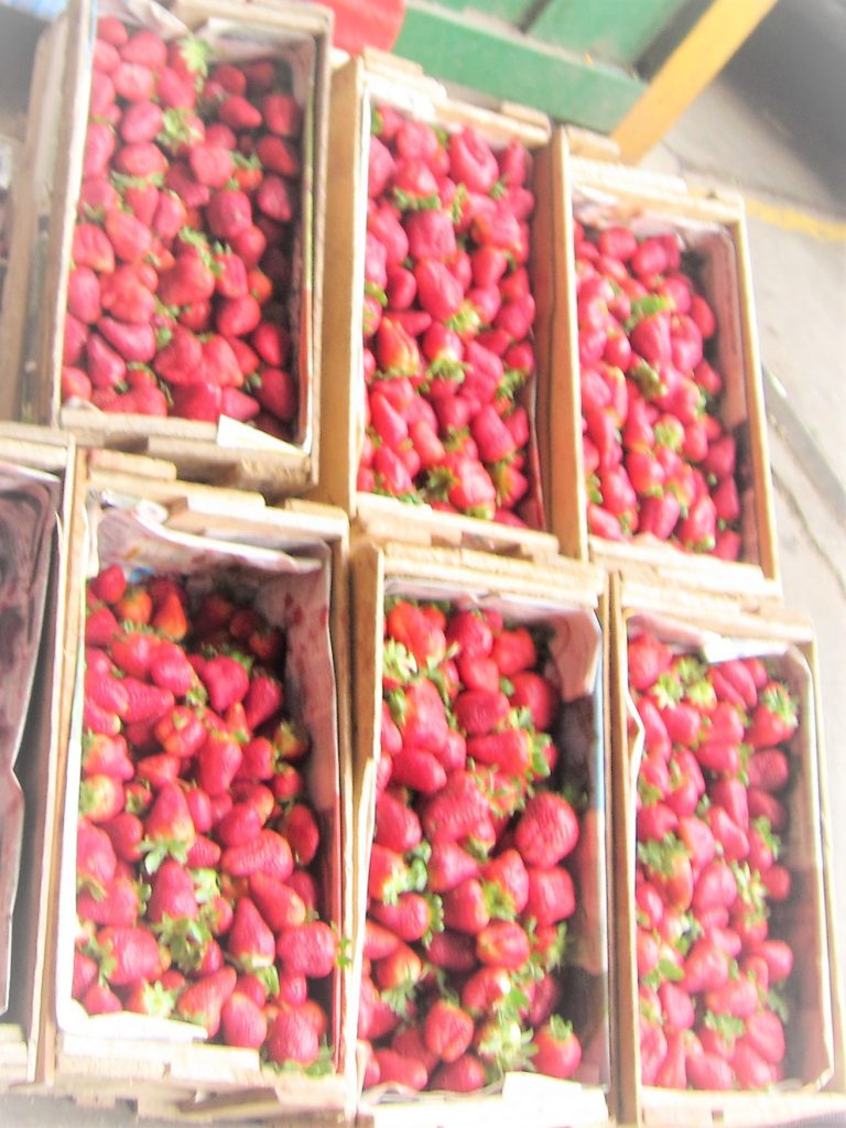 リマ、市場、買い物、果物