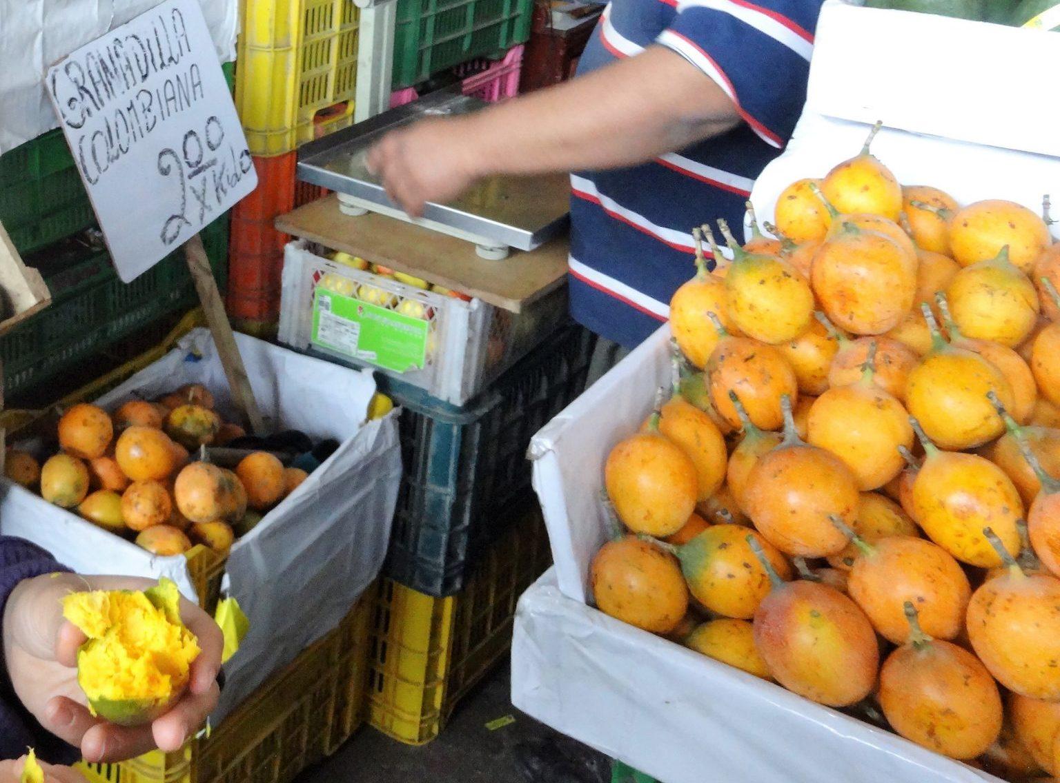ペルー, 果物, フルーツ, 甘い, スイート, パッション, フルーツ, Granadilla, グラナダディーヤ