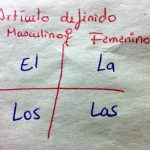 スペイン語学習 スペイン語の冠詞(el articulo)、定冠詞(el artículo definido)編