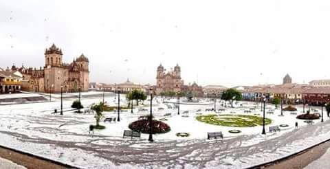 ペルー、クスコ、天気、雪