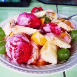 ペルー料理のデザート・フルーツサラダのレシピ Postre Ensalada de frutas エンサラーダ デ フルータスは、栄養満点でおいしい☆