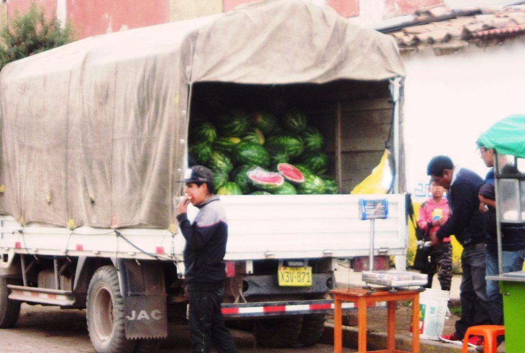 南米, ペルー, 果物, フルーツ, スイカ
