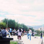 ペルー・クスコでは、6月のインティ・ライミの祭りの一ヶ月前ぐらいからたくさんの若者たちがダンスを特訓!