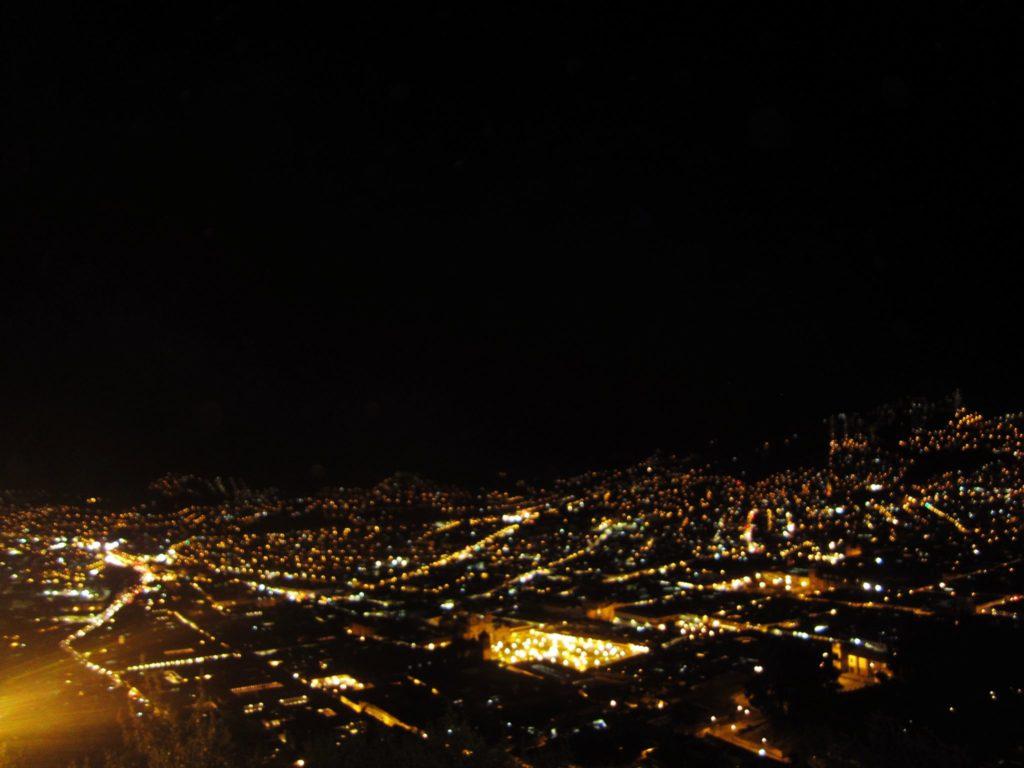 ペルー, クスコ, バス, 観光, ツアー, 展望台, 夜景
