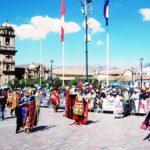 クスコの日、祭り前日の様子!2018年6月23日ペルー・クスコのダンス・パレード!いろいろな団体が民族衣装で行進!
