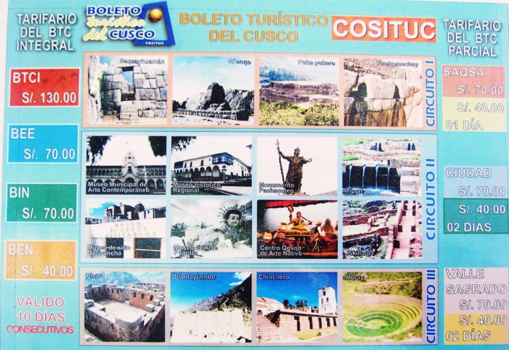 ペルー, クスコ, 旅行, チケット, 周遊券