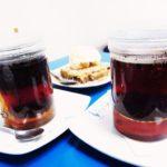 クスコ、聖なる谷ピサック Pisac のおしゃれかわいいカフェ・レストラン・ブルー・リャマ Blue Llama のハーブ・ティーもおしゃれ!