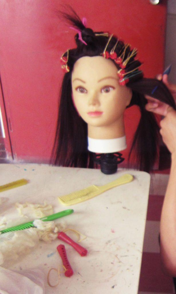 ペルー, 美容院, 学校, パーマ