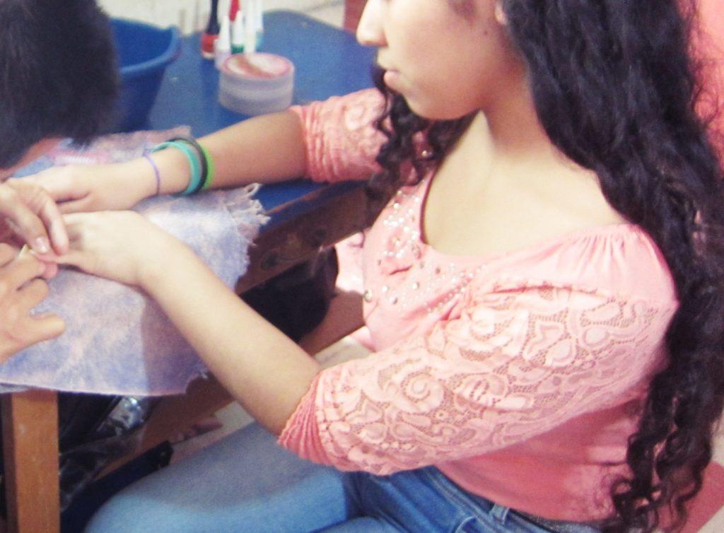 ペルー, 美容院, 学校, ネイル