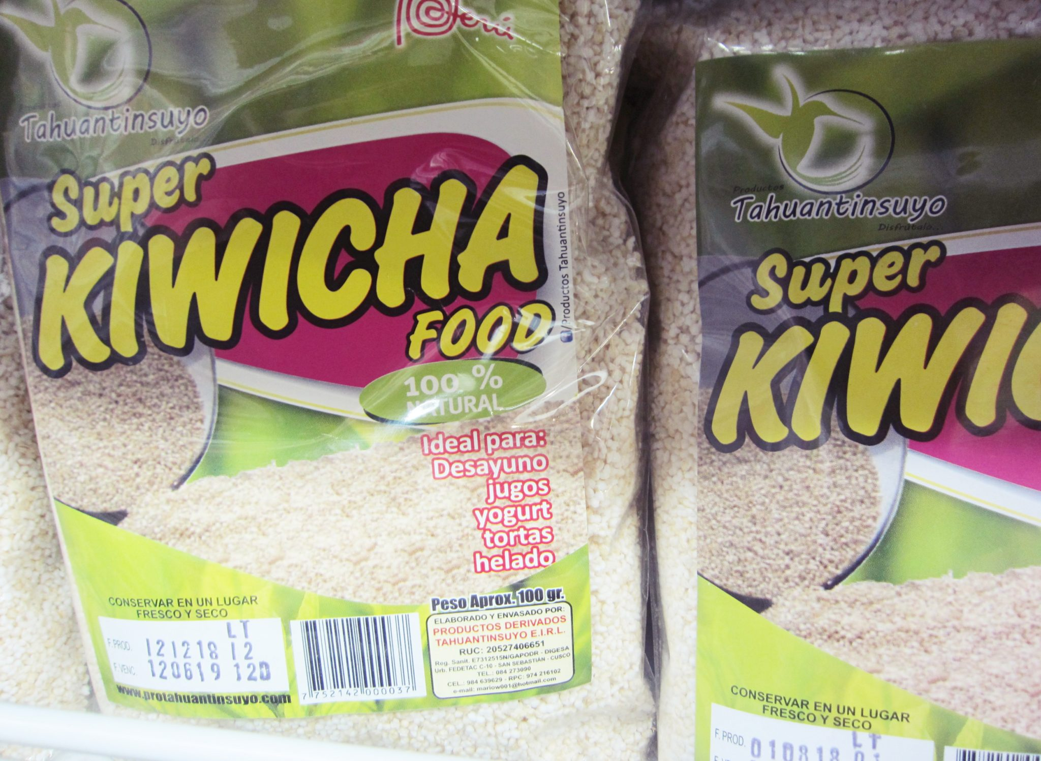 ペルー, スーパーフード, キウィチャ, Kiwicha