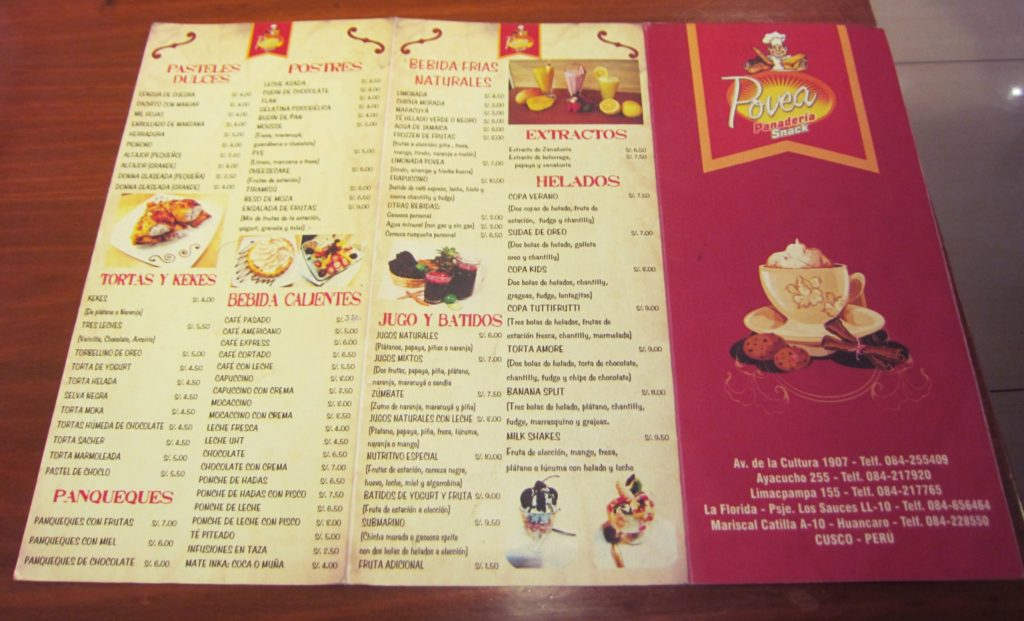 ペルー, クスコ, デザート, カフェ, ケーキ
