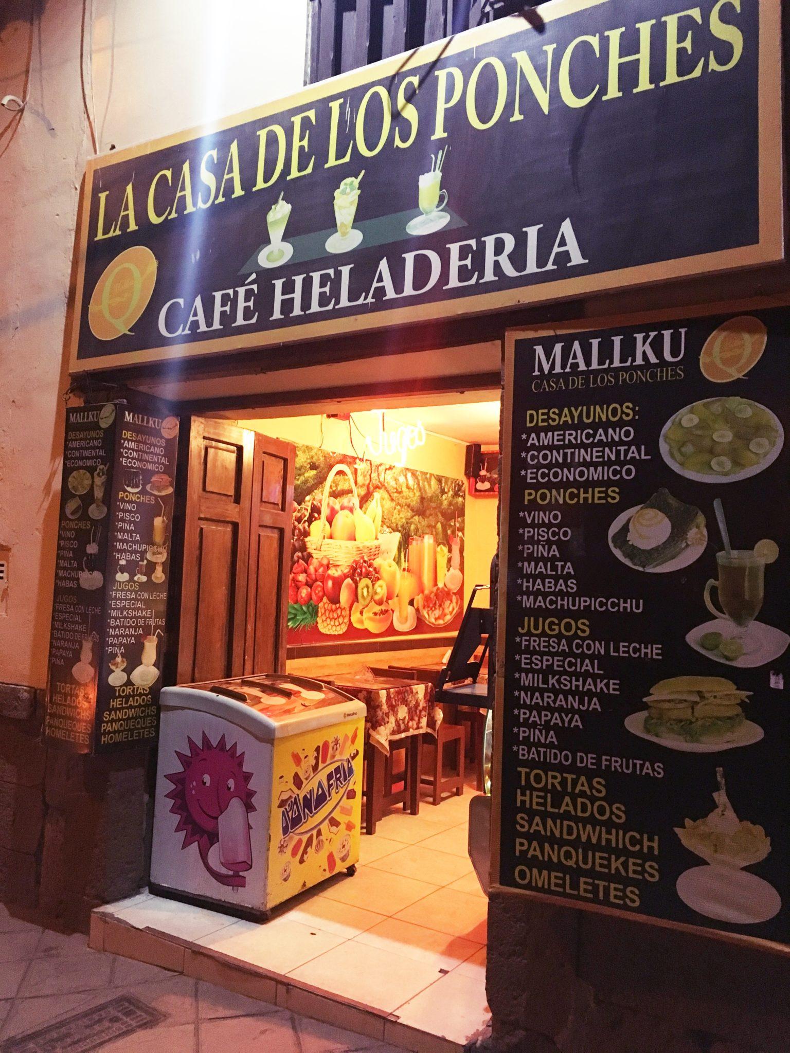 ペルー, クスコ, カフェ, Ponche