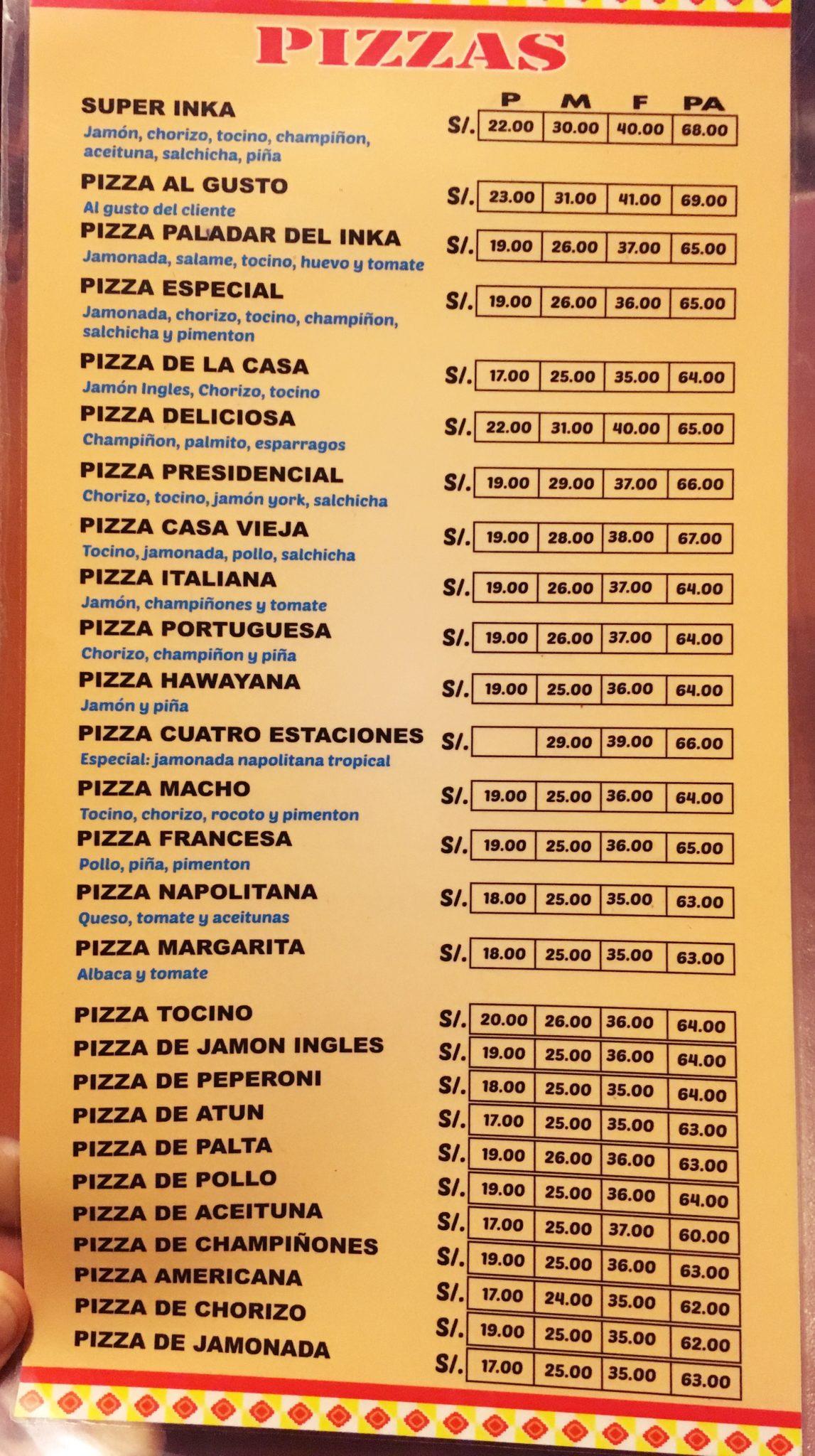 ペルー, クスコ, レストラン, ペルー料理, おいしい, ピザ, pizza