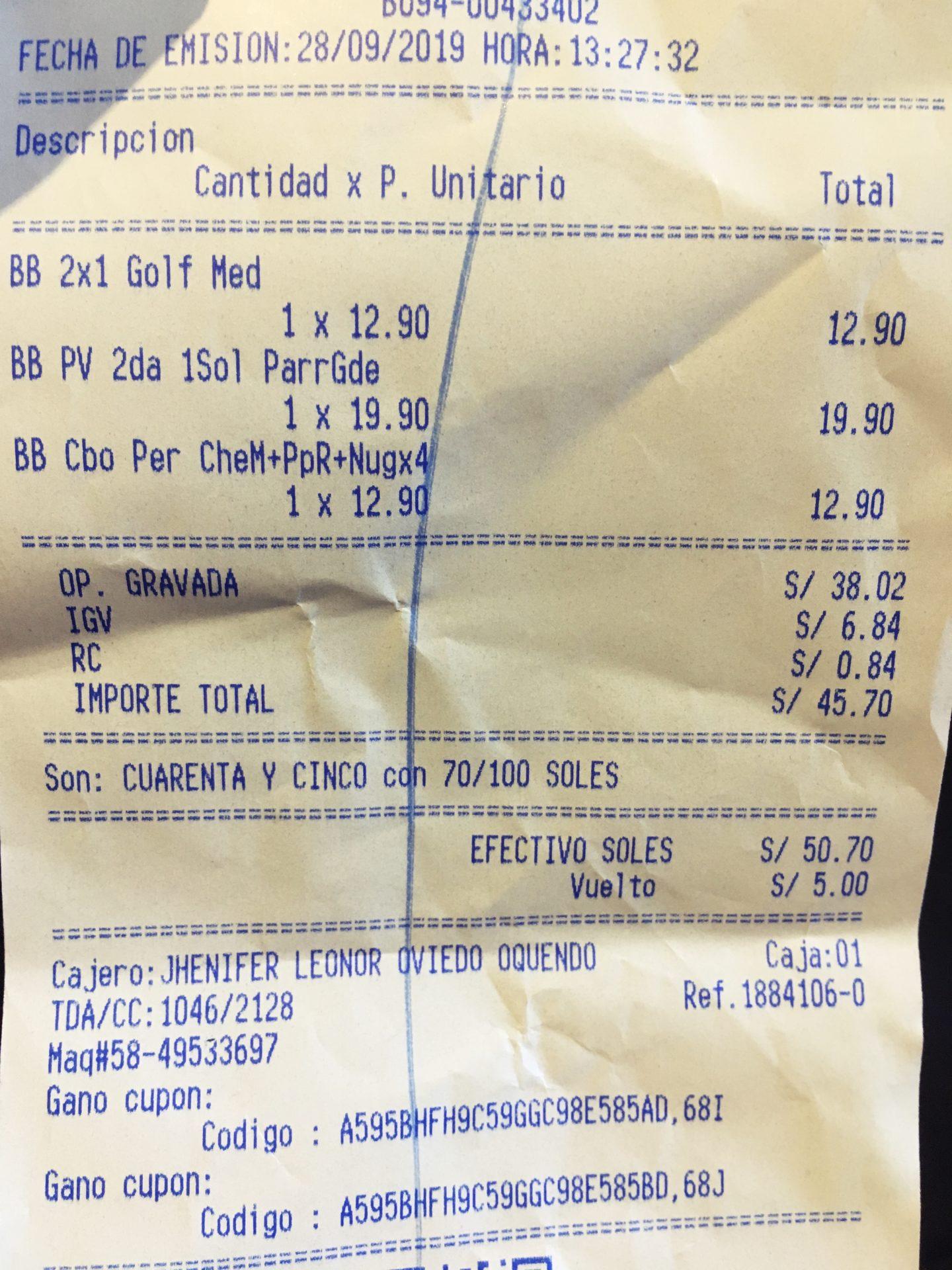 ペルー, クスコ, ファーストフード, レストラン. BEMBOS