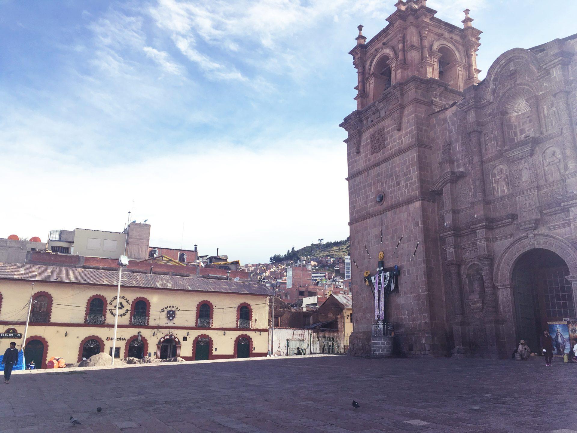 プーノ, チチカカ, 観光, Titicaca, Puno, アルマス, 広場, Plaza, Armas