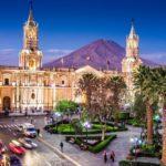 ペルーの世界遺産の一つアレキーパ旧市街 Centro histórico de Arequipa