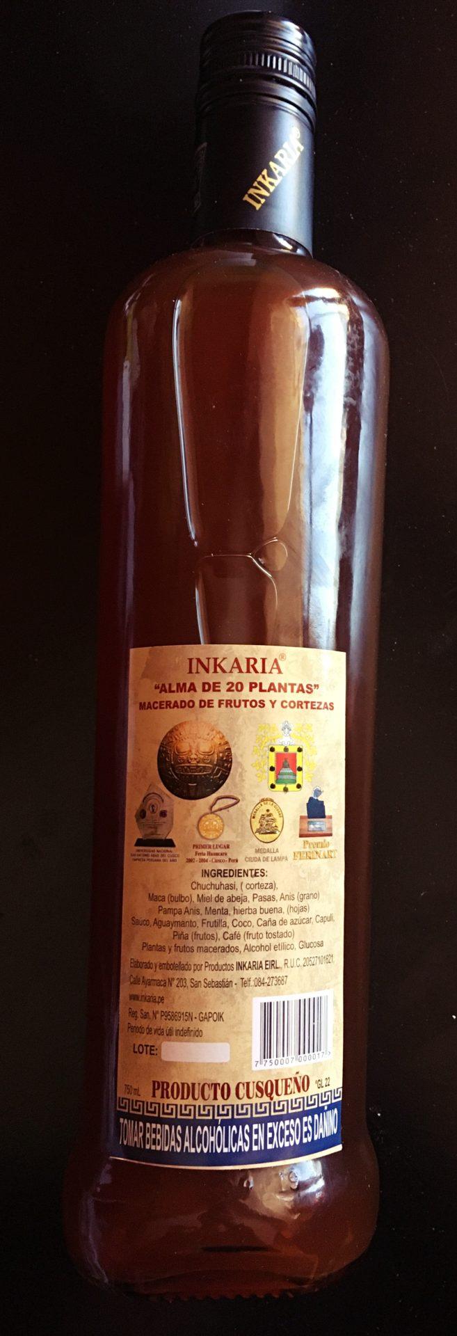 ペルー, クスコ, 酒, INKARIA
