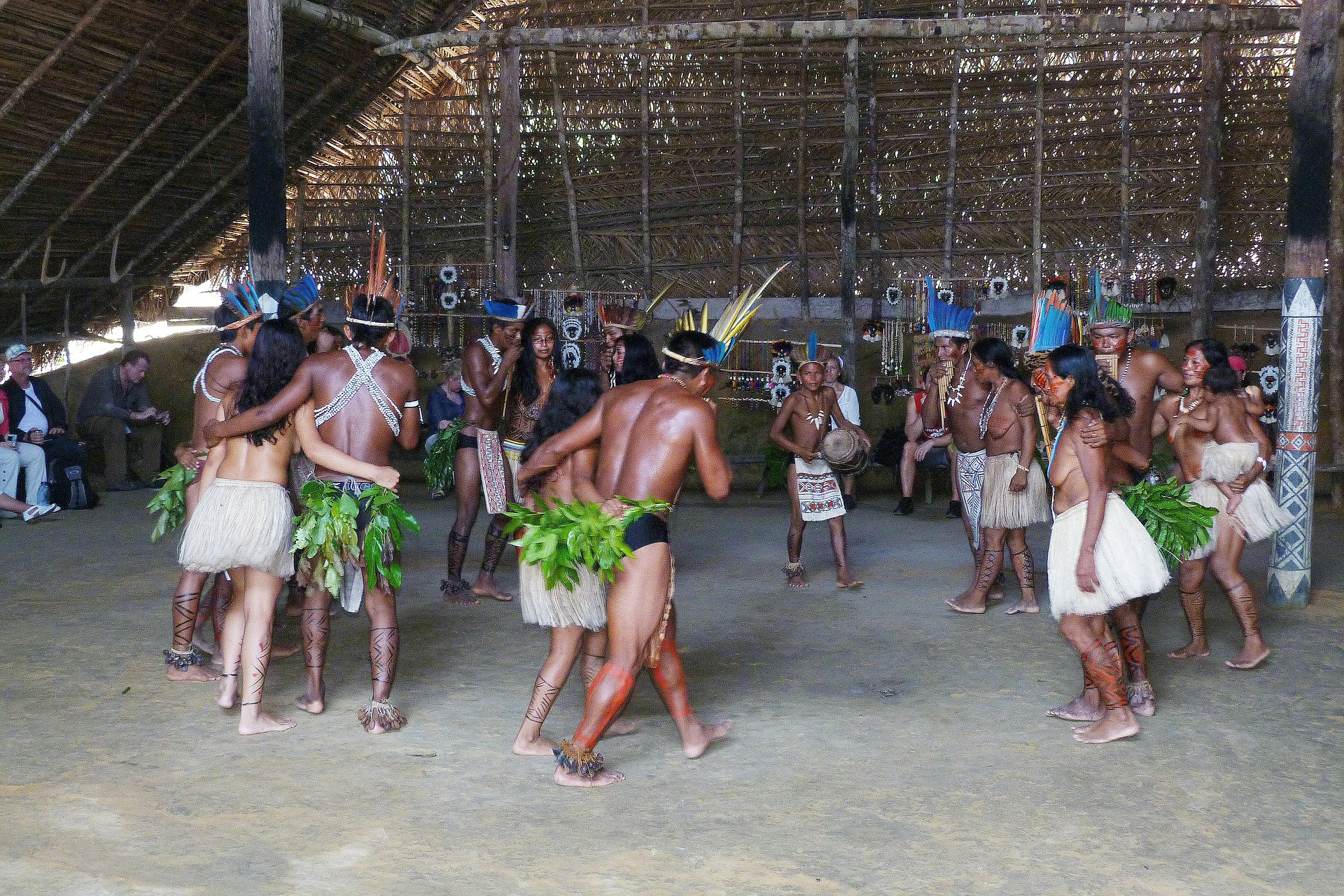 家族, 南米, ペルー, ジャングル, アマゾン, 言語, Awajún, アワフン