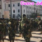 ペドロ・カスティジョ新大統領就任式前日クスコは警察、軍でいっぱい